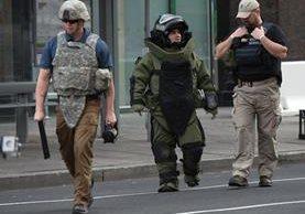 Fuerzas especiales de seguridad de EE. UU. desplegadas en las calles de Washington DC. (Foto Prensa Libre: AFP).