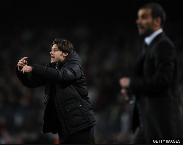 Pochettino comenzó su carrera como entrenador con el Espanyol y desde entonces mantiene una rivalidad en los banquillos con Pep Guardiola. (Foto Prensa Libre: BBC Mundo)