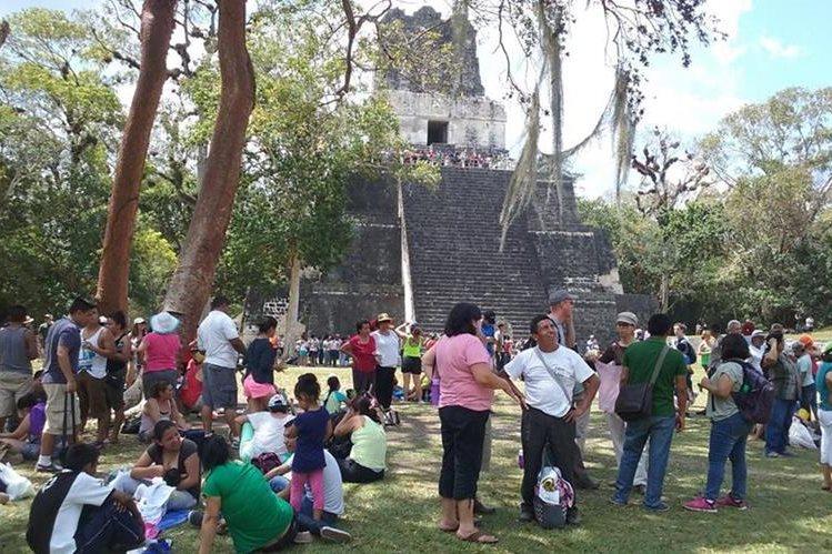 Parque Nacional Tikal es parte de las locaciones escogidas por una productora italiana. (Foto Prensa Libre: Rigoberto Escobar)