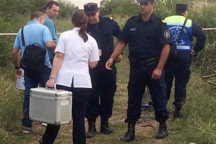 Autoridades buscan el cadáver de Micaela García. (Foto Prensa Libre: Tomado de Diario El Clarín)