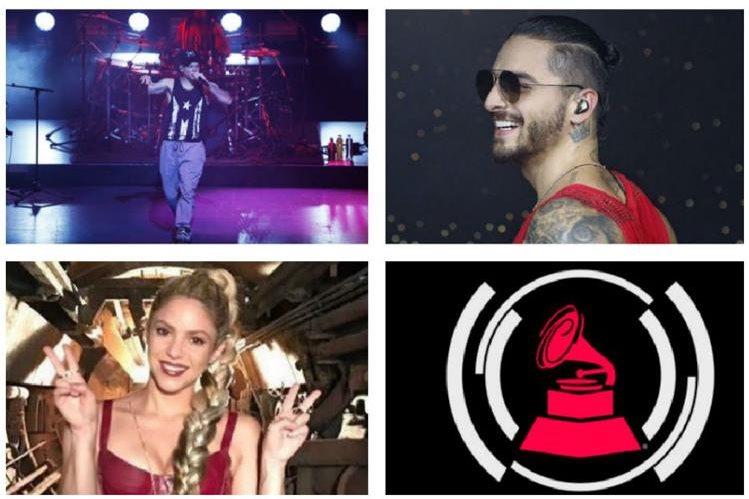 Residente, Maluma y Shakira, son los favoritos en la 18 edición de los Latin Grammy. (Foto Prensa Libre: Hemeroteca PL)