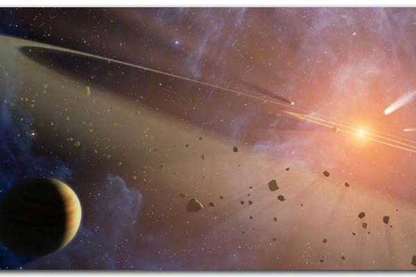 """<p style=""""text-align: left;"""">Recreación artística del nacimiento del  Sistema Solar. (NASA)</p>"""