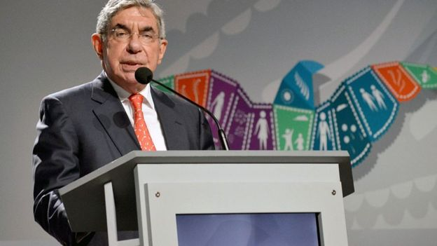 Óscar Arias, presidente de Costa Rica de 1986 a 1990 y de 2006 a 2010, quiso poner fin a la injerencia extranjera en las guerras civiles de América Central. GETTY IMAGES