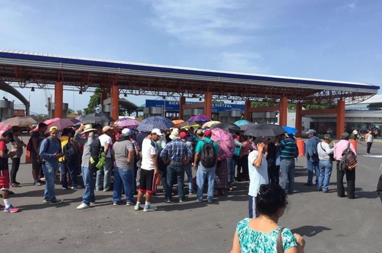 Protesta afecta traslado de mercadería en Puerto Quetzal