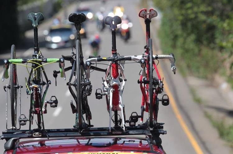 Las bicicletas de los protagonistas de la Vuelta a Guatemala.