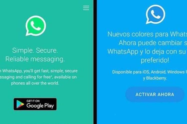 Esta nueva estafa promete cambiar los colores de WhatsApp pero el objetivo es otro: llenar tu teléfono de avisos publicitarios y acceder a tus datos.(WHATSAPP)