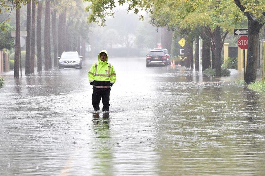 Carolina del Norte y del Sur se han llevado la peor parte, aunque casi todos los Estados de la Costa este han sido afectados. (Foto Prensa Libre: AFP).