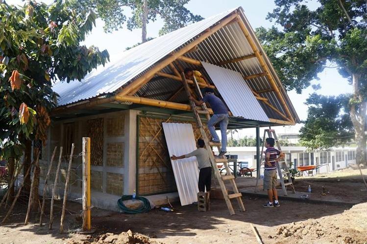 Inmueble modelo del proyecto habitacional de Nuevo San Carlos, Retalhuleu, el cual será utilizado como Oficina Municipal de la Vivienda. (Foto Prensa Libre: Rolando Miranda).