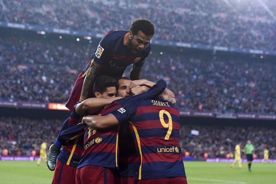La salida del equipo de futbol, Barcelona, de la liga española sería una de las consecuencias si se independiza Cataluña. (Foto Prensa Libre: AFP).