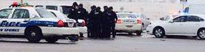 La Policía resguarda el centro clínico Planned Parenthood.