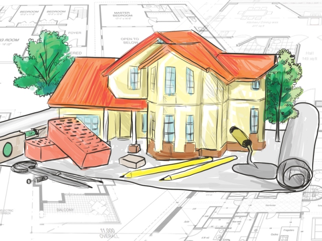 La compra o remodelación de vivienda es una decisión de pareja, pero la mujer muchas veces decide lo que se hará. (Ilustración Prensa Libre: Kevin Ramírez)