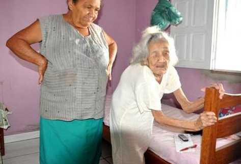 Margarida Alexandrina de Oliveira de 116 años confesó que nunca tuvo un novio en su vida. (Foto Prensa Libre: tomada de g1.globo.com)