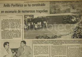 Nota de Prensa Libre del 22 de septiembre de 1980 informando sobre varias causas de accidentes en el Periférico. (Foto: Hemeroteca PL)