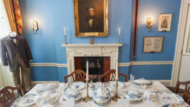 El comedor de la casa de Dickens en Londres, ahora convertido en el Museo Charles Dickens. (ALAMY).