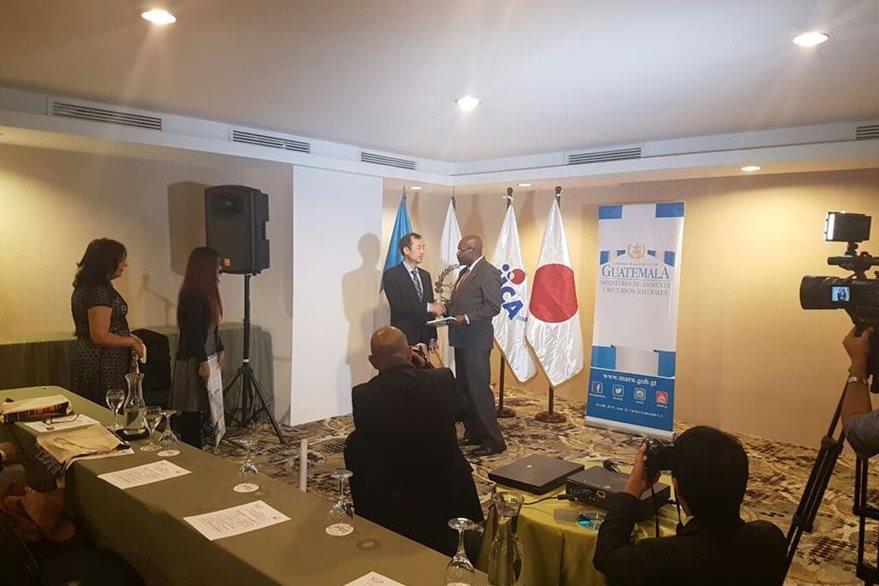 La Agencia de Cooperación Internacional de Japón ayudó a realizar el proyecto que fue presentado oficialmente este miércoles. (Foto Prensa Libre: Carlos Álvarez)
