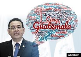 Jimmy Morales dio un segundo mensaje a la Nación la tarde de este domingo. Estas son las palabras que más repitió. (Foto Prensa Libre: Javier Marroquín)