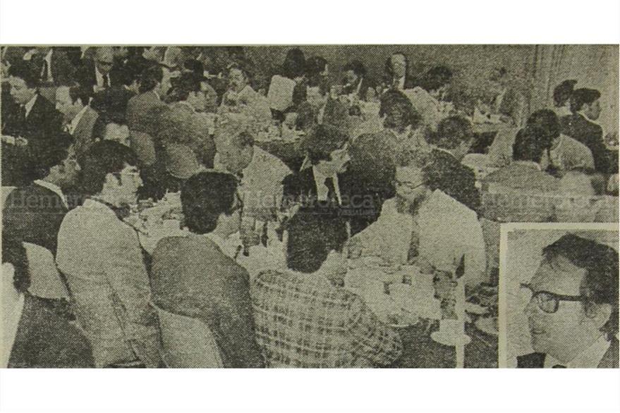 Jorge Lamport, ministro de Finanzas en 1976 (inserto) notifica de aumento presupuestario por el terremoto. (Foto: Hemeroteca PL)