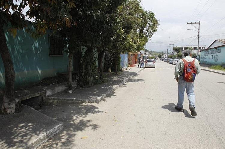 Lugar donde murió la menor de 12 años a causa de una bala perdida.(Prensa Libre: Paulo Raquec.)