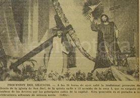 Procesión del Silencio del año 1965. (Foto: Hemeroteca PL)