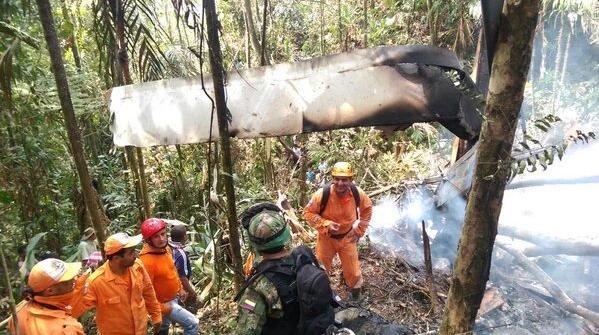 Accidente de helicóptero en Colombia deja cuatro muertos. (internet)