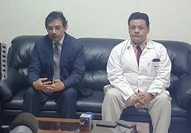 Luis Hernández Polanco fue nombrado como nuevo director del Hospital General San Juan de Dios, en sustitución de Juan Antonio Villeda. (Foto Prensa Libre: HGSJD)