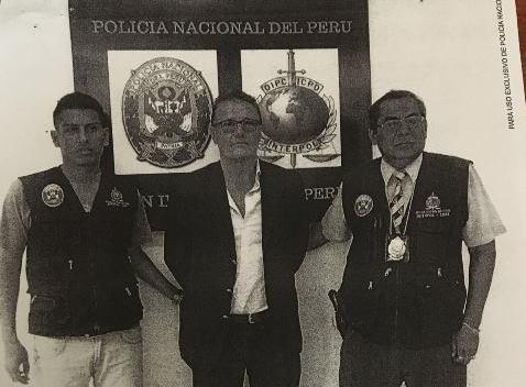 Rotondo Dall´orso fue aprehendido por la Policía Nacional de Perú. (Foto Prensa Libre: Cortesía)
