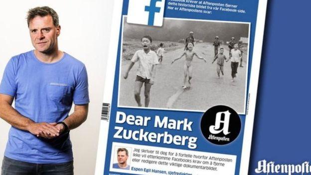 El editor del periódico principal de Noruega reaccionó publicando una carta abierta. Pero esta no fue la única reacción. AFTENPOSTEN/NICK UT