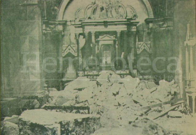 La Catedral de Quetzaltenango sufrió severos daños en su estructura. (Foto: el Quetzalteco)