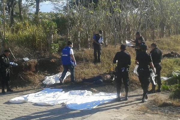<p>Los cadáveres de de Eddy David López, de 19 años; José David López, 17 y Lorenzo Efraín Agustín Calderón, 17, fueron hallados por vecinos la mañana de este lunes en Pajapita, San Marcos. (Foto Prensa Libre: Alexander Coyoy)<br></p>