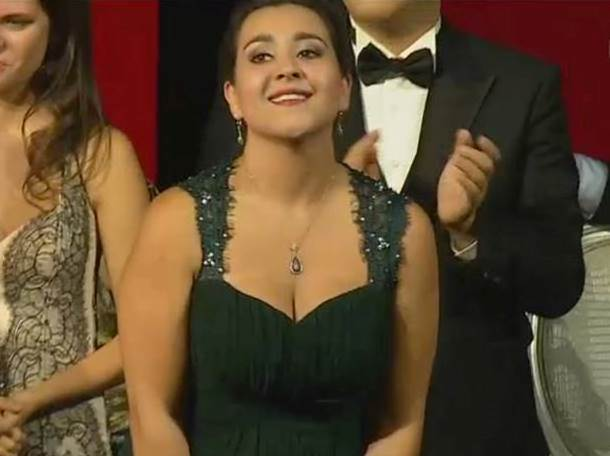 Adriana González compitió con jóvenes cantantes de ópera de distintos países. (Foto Prensa Libre: @isaoperavienna