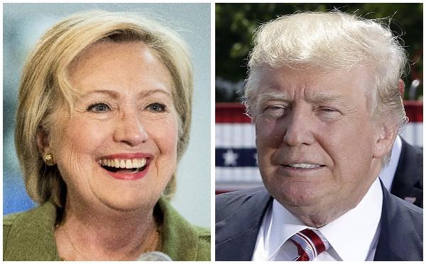 Hillary Clinton y Donald Trump centran su atención en estados claves para su elección.(Foto Prensa Libre:AFP).