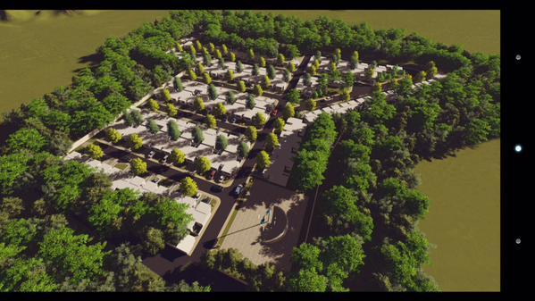"""El modelo de urbanización de la colonia """"Familia Querida"""", donde se ubicaría a los damnificados de El Cambray 2. (Foto Prensa Libre: @CIVguate)"""