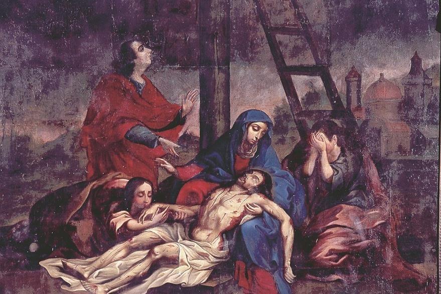 La Piedad, una de las obras robadas del Calvario. (Foto: Hemeroteca PL)
