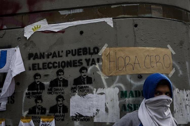 Caracas fue el escenario de nuevas protestas callejeras contra Maduro. (EFE).