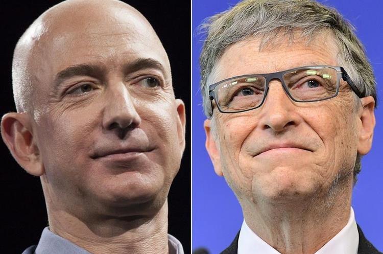 Bezos superó a Bill Gates por 400 millones, según cálculo de Forbes. (Foto Prensa Libre: AFP)