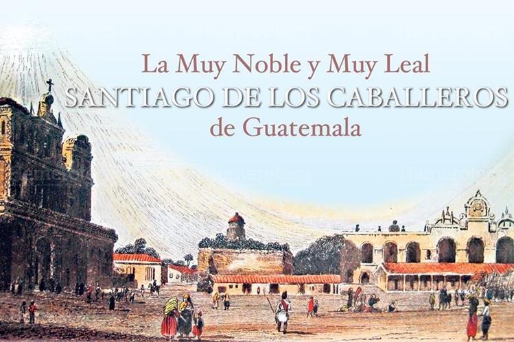 Plaza de Antigua Guatemala, en 1839. (Dibujo: Frederick Catherwood)