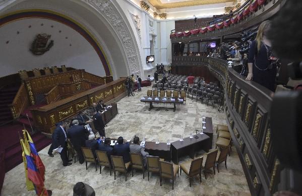 Vista general de la Asamblea Nacional en la ciudad de Caracas, Venezuela.