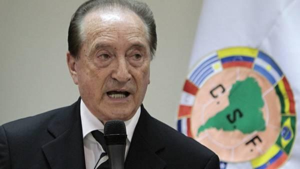 Eugenio Figueredo, Exdirigente de la Fifa podría enfrentar a la justicia estadounidense. (Foto Prensa Libre: Twitter)