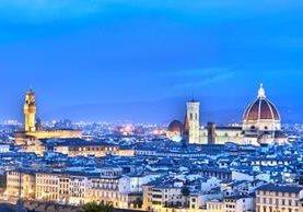 Vista de Florencia desde la Piazzale Michelangelo. Foto Prensa Libre: Roberto Villalobos Viato.