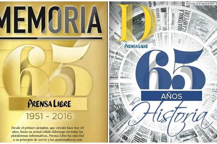 Prensa Libre ofrece estas piezas coleccionables con motivo de su 65 aniversario.