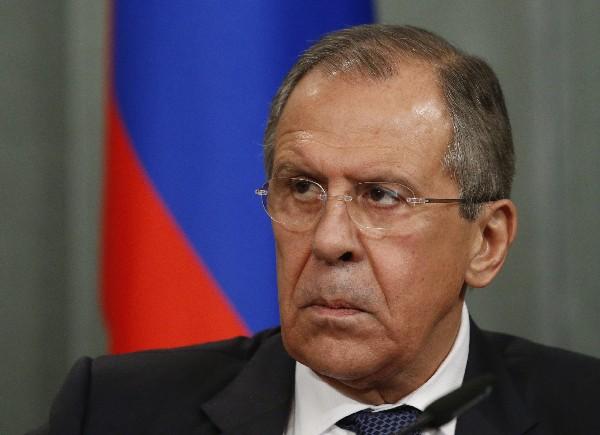 Sergéi Lavrov, ministro de Exteriores ruso, ofrece una conferencia de prensa.