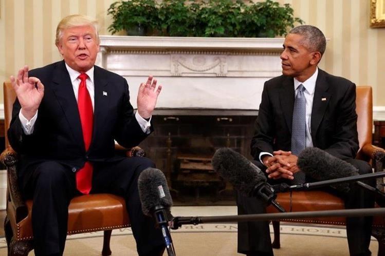 Donald Trump acusa a Barack Obama de haber intervenido su teléfono. (Foto Prensa Libre: AFP)