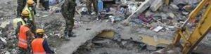 Derrumbe de edificio en Nairobi.