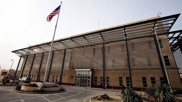 Vista de la embajada de Estados Unidos en Bagdad. (Foto: Infobae).