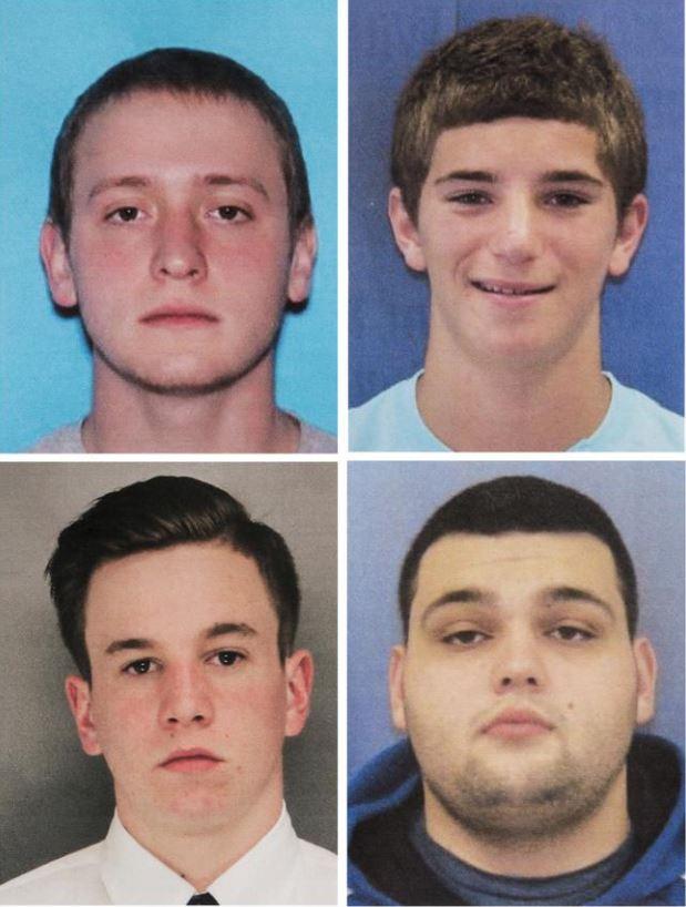 Tom Meo, Jimi Tar Patrick, Dean Finocchiaro y Mark Sturgis son los cuatro jóvenes desaparecidos. (Foto Prensa Libre: AP)