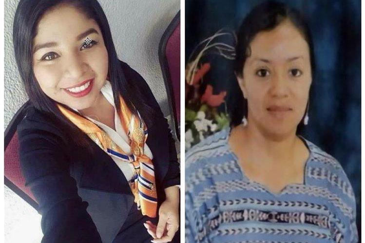 Cinthia Estrada y Lilian Juárez. (Fotos Prensa Libre: Ministerio Público).
