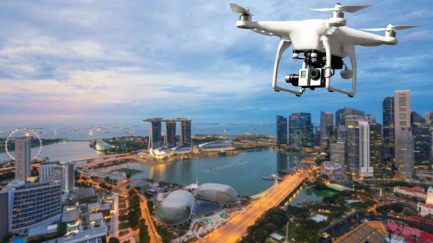 Los drones son una de las tecnologías más utilizadas para la vigilancia en el país asiático. (GETTY IMAGES)