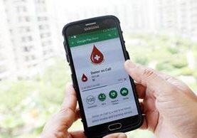 La aplicación, para facilitar la donación de sangre, se ha popularizado en el país asiático (Foto Prensa Libre: EFE).