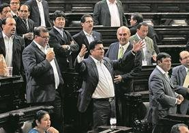 El Congreso tendrá de nuevo en sus manos el futuro de un presidente. En el 2015 debió decidir si se le retiraba la inmunidad a Otto Pérez Molina. (Foto Prensa Libre: Hemeroteca PL)