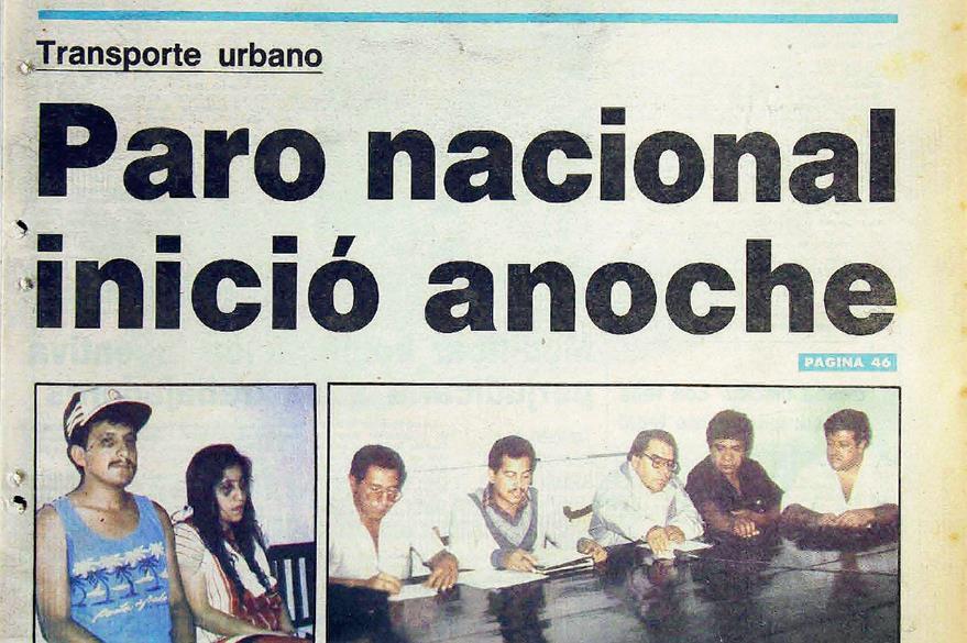 El 15  de mayo de 1990, autobuseros anunciaron el paro. (Foto: Hemeroteca PL)